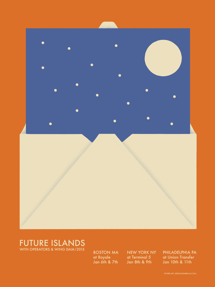 Póster de Membrillas per a Future Islands