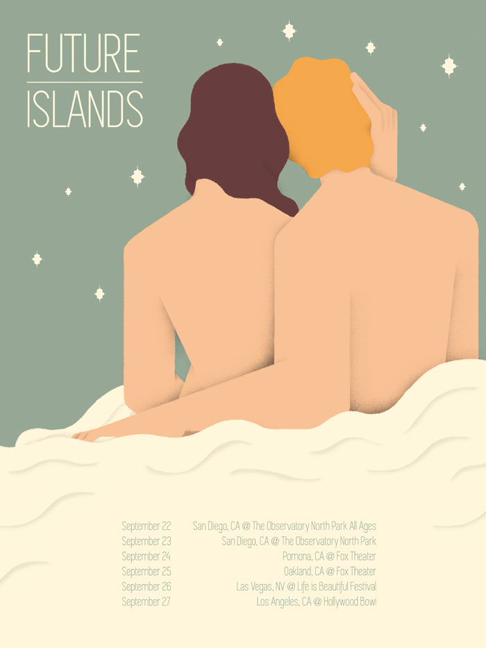 Póster de Sergio Membrillas per a Future Islands